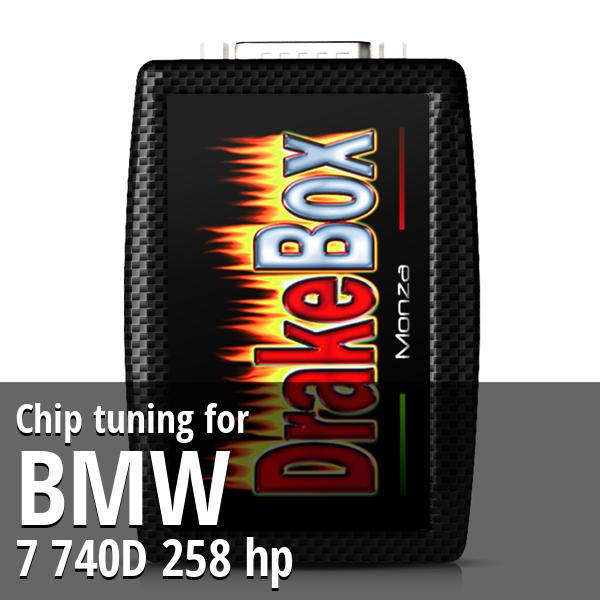 Chip tuning Bmw 7 740D 258 hp