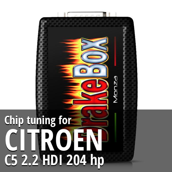 Chip tuning Citroen C5 2.2 HDI 204 hp