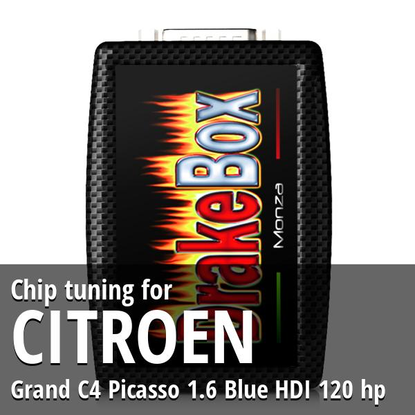 Chip tuning Citroen Grand C4 Picasso 1.6 Blue HDI 120 hp