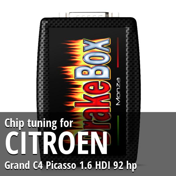 Chip tuning Citroen Grand C4 Picasso 1.6 HDI 92 hp