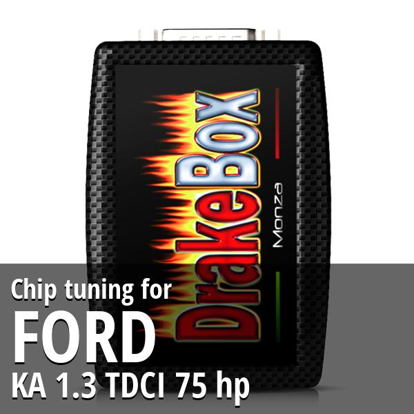 Chip tuning Ford KA 1.3 TDCI 75 hp