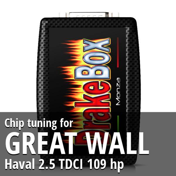 Chip tuning Great Wall Haval 2.5 TDCI 109 hp