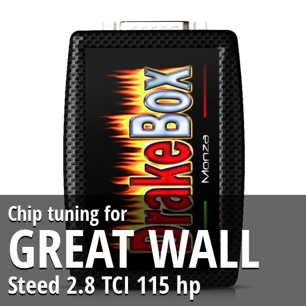 Chip tuning Great Wall Steed 2.8 TCI 115 hp