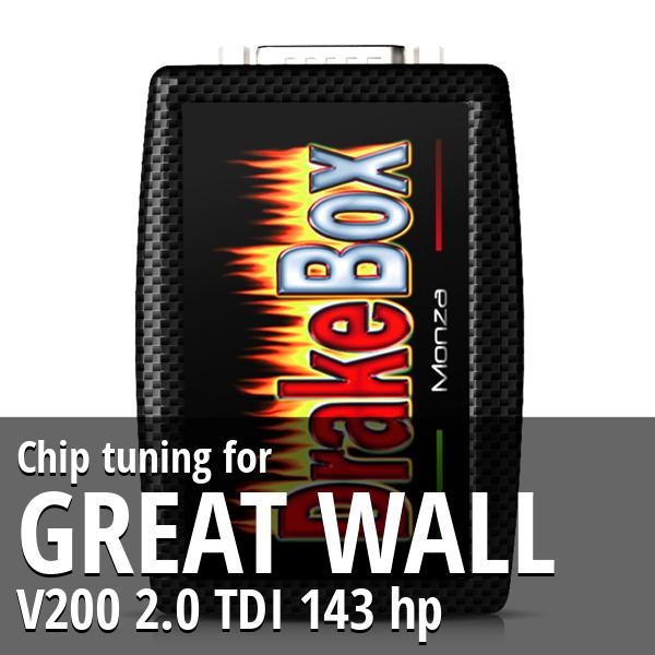 Chip tuning Great Wall V200 2.0 TDI 143 hp