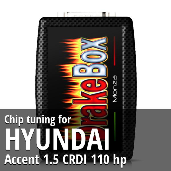 Chip tuning Hyundai Accent 1.5 CRDI 110 hp