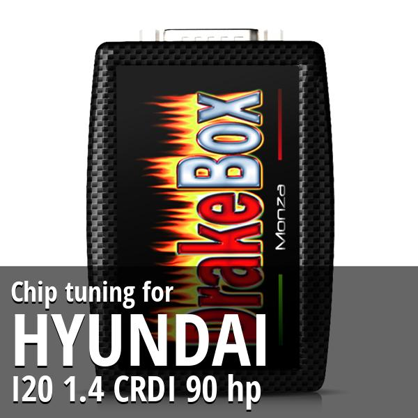 Chip tuning Hyundai I20 1.4 CRDI 90 hp