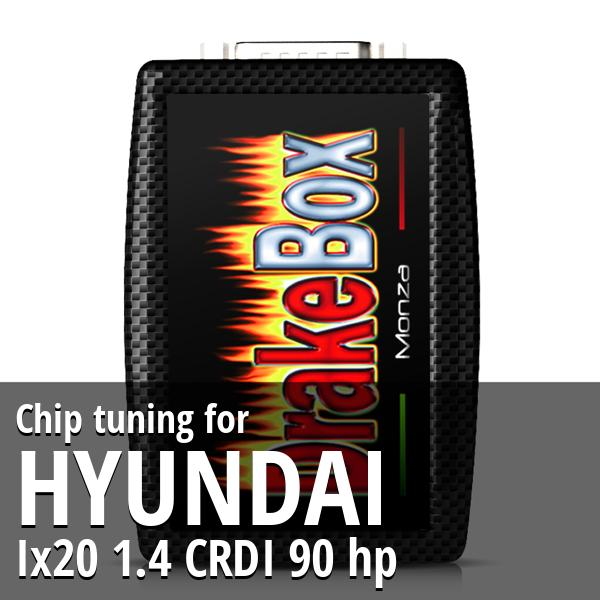 Chip tuning Hyundai Ix20 1.4 CRDI 90 hp