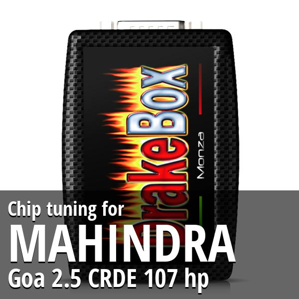 Chip tuning Mahindra Goa 2.5 CRDE 107 hp