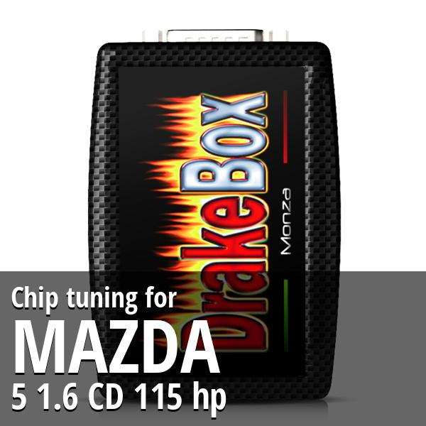 Chip tuning Mazda 5 1.6 CD 115 hp