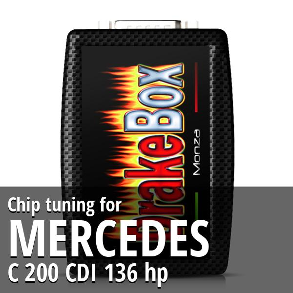 Chip tuning Mercedes C 200 CDI 136 hp