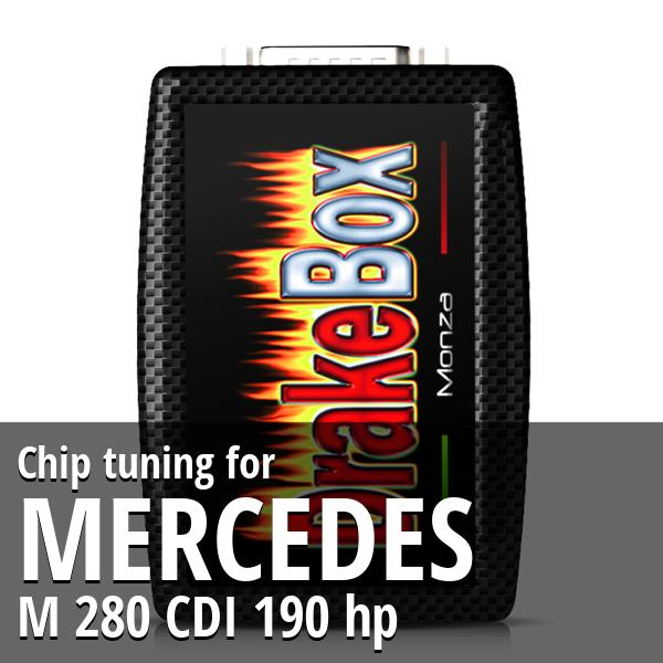 Chip tuning Mercedes M 280 CDI 190 hp
