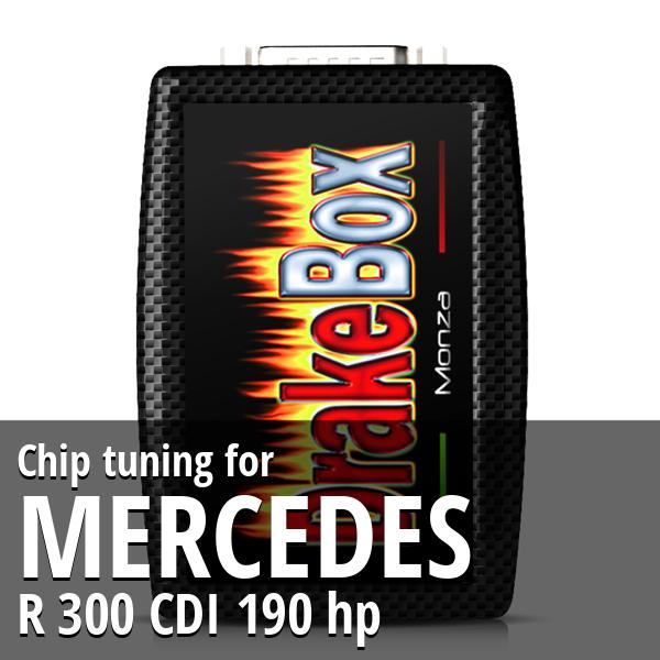 Chip tuning Mercedes R 300 CDI 190 hp