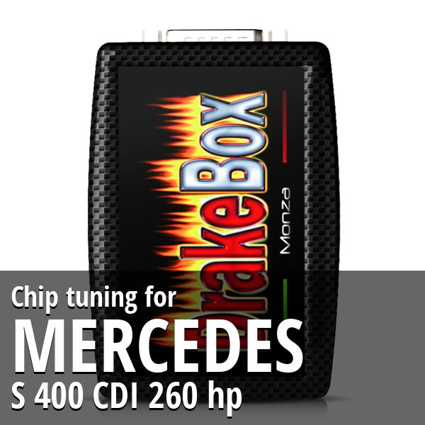 Chip tuning Mercedes S 400 CDI 260 hp