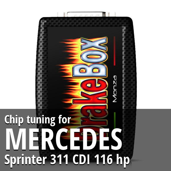 Chip tuning Mercedes Sprinter 311 CDI 116 hp