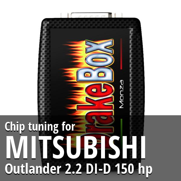 Chip tuning Mitsubishi Outlander 2.2 DI-D 150 hp