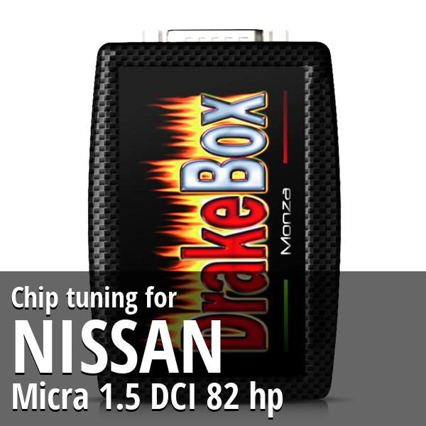 Chip tuning Nissan Micra 1.5 DCI 82 hp