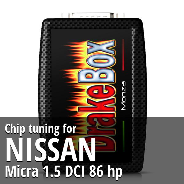 Chip tuning Nissan Micra 1.5 DCI 86 hp
