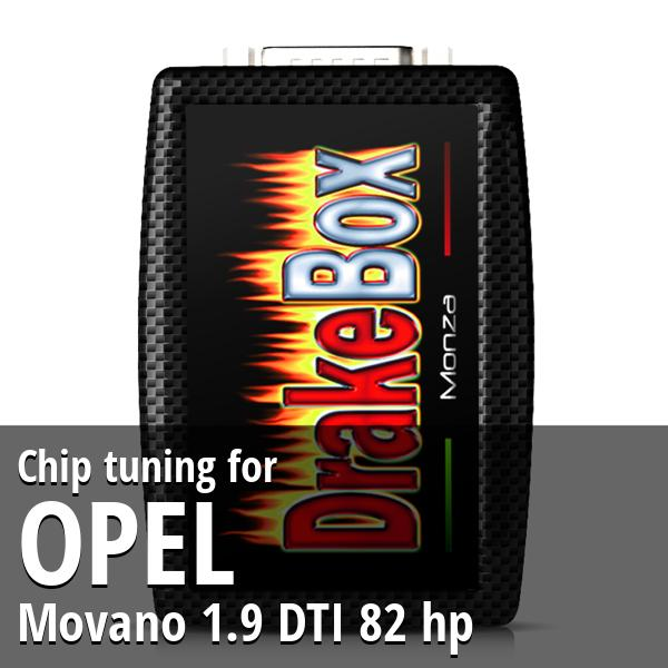 Chip tuning Opel Movano 1.9 DTI 82 hp