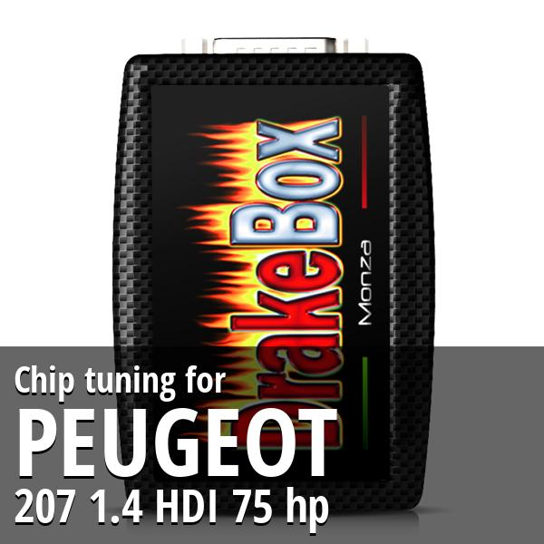 Chip tuning Peugeot 207 1.4 HDI 75 hp