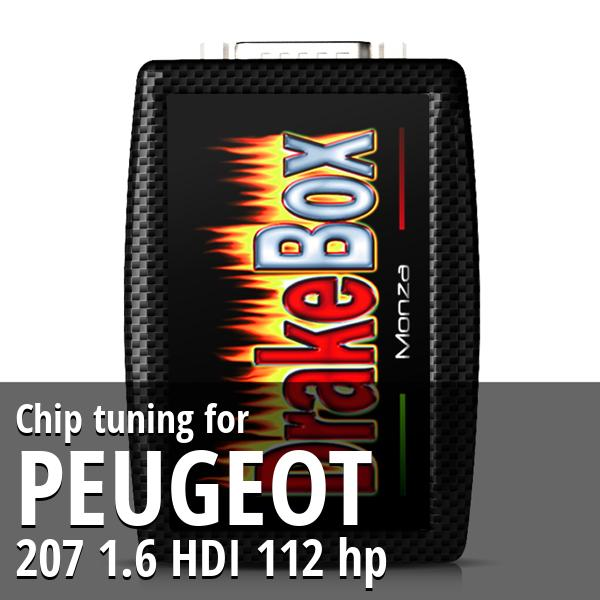 Chip tuning Peugeot 207 1.6 HDI 112 hp
