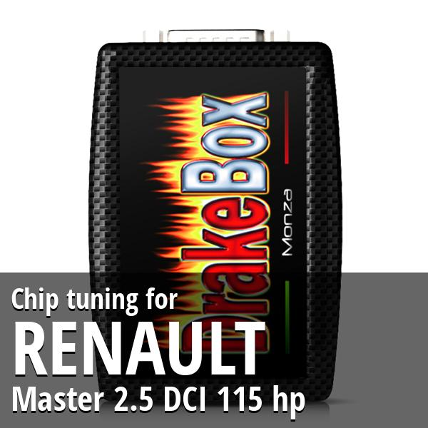 Chip tuning Renault Master 2.5 DCI 115 hp