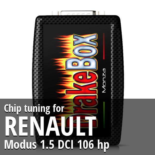 Chip tuning Renault Modus 1.5 DCI 106 hp