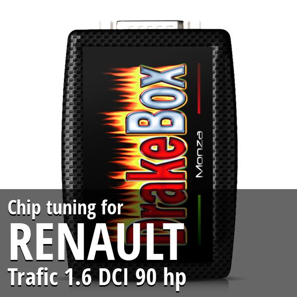 Chip tuning Renault Trafic 1.6 DCI 90 hp