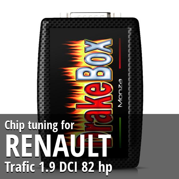 Chip tuning Renault Trafic 1.9 DCI 82 hp