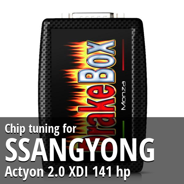 Chip tuning Ssangyong Actyon 2.0 XDI 141 hp
