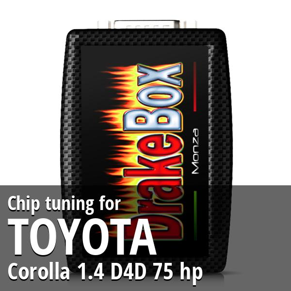Chip tuning Toyota Corolla 1.4 D4D 75 hp