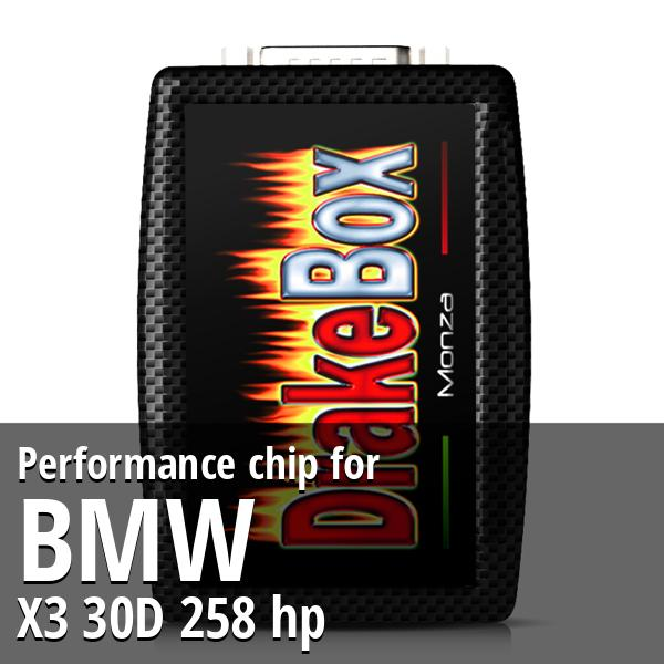 Performance chip Bmw X3 30D 258 hp