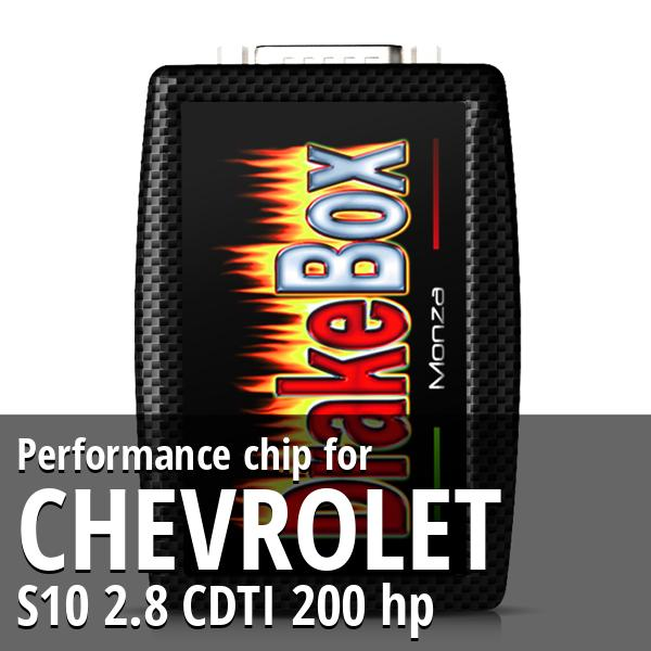 Performance chip Chevrolet S10 2.8 CDTI 200 hp