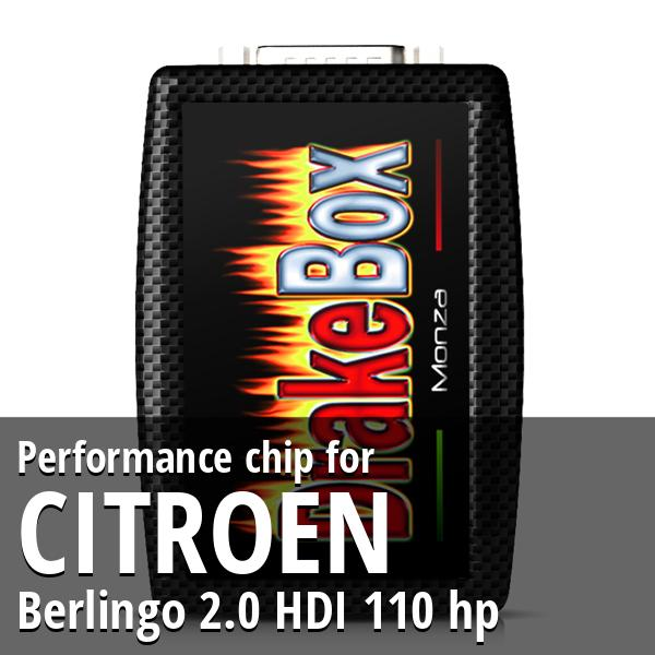 Performance chip Citroen Berlingo 2.0 HDI 110 hp