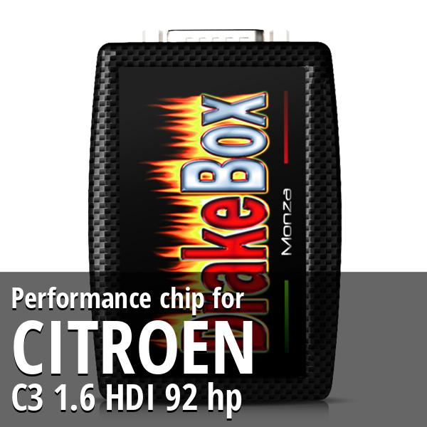 Performance chip Citroen C3 1.6 HDI 92 hp