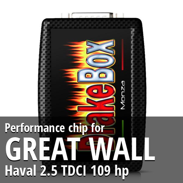 Performance chip Great Wall Haval 2.5 TDCI 109 hp