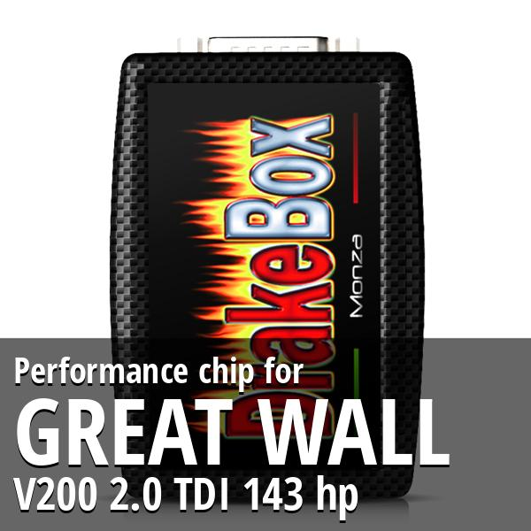 Performance chip Great Wall V200 2.0 TDI 143 hp
