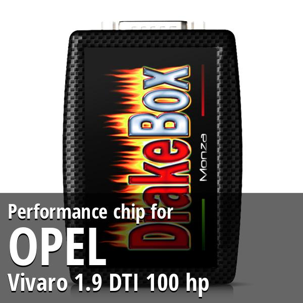 Performance chip Opel Vivaro 1.9 DTI 100 hp