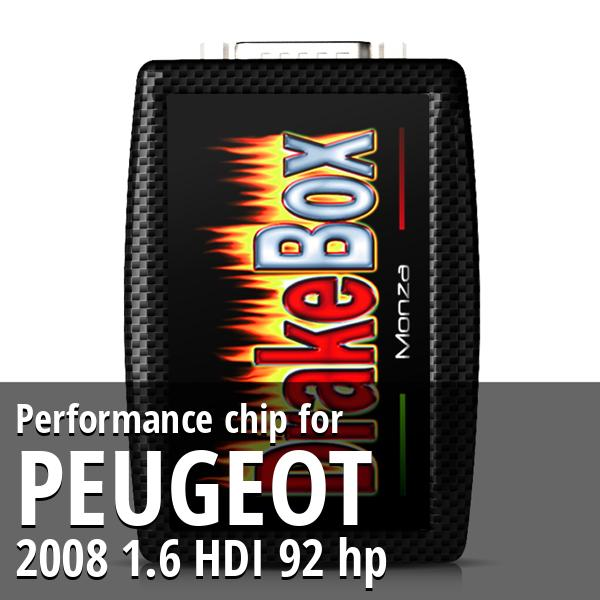 Performance chip Peugeot 2008 1.6 HDI 92 hp