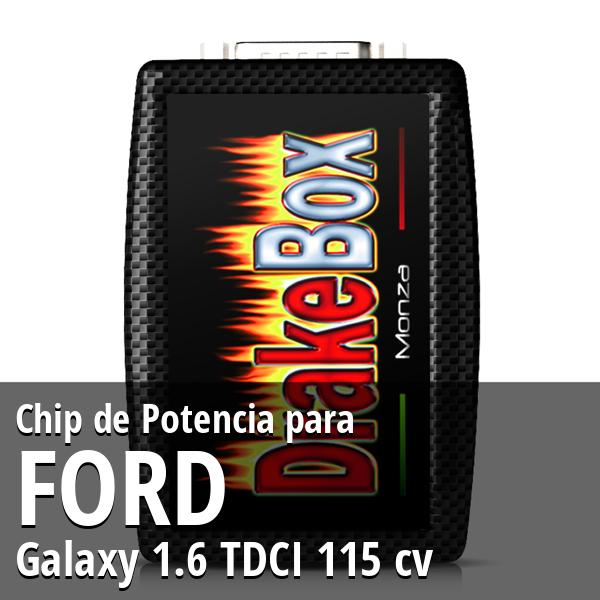 Chip de Potencia Ford Galaxy 1.6 TDCI 115 cv