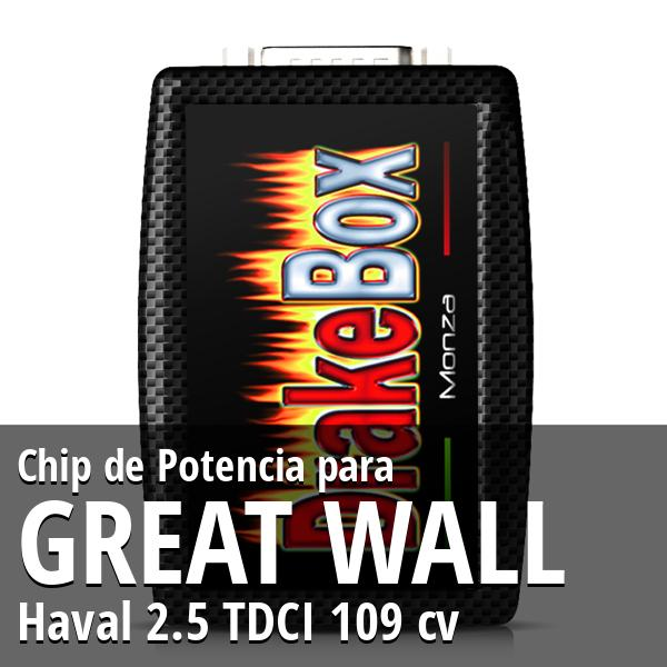 Chip de Potencia Great Wall Haval 2.5 TDCI 109 cv