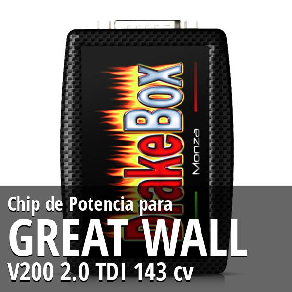Chip de Potencia Great Wall V200 2.0 TDI 143 cv