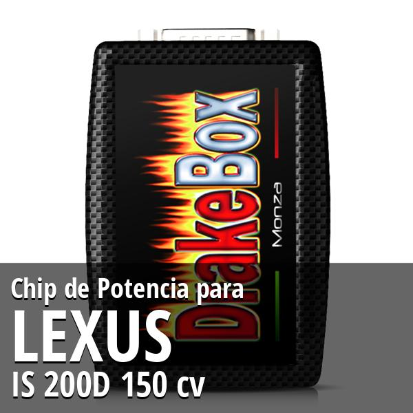 Chip de Potencia Lexus IS 200D 150 cv
