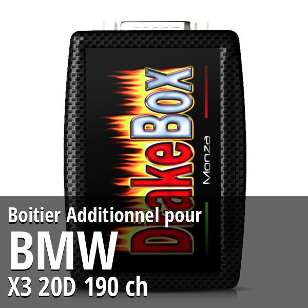 Boitier Additionnel Bmw X3 20D 190 ch