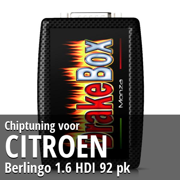 Chiptuning Citroen Berlingo 1.6 HDI 92 pk