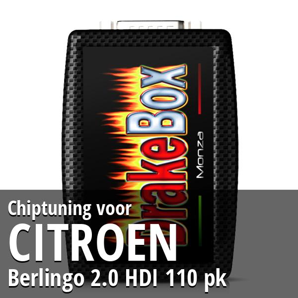 Chiptuning Citroen Berlingo 2.0 HDI 110 pk