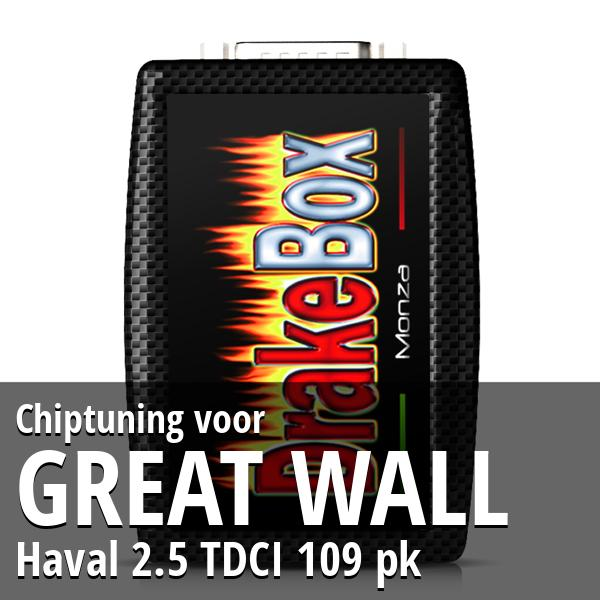 Chiptuning Great Wall Haval 2.5 TDCI 109 pk