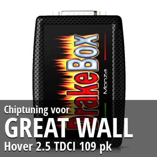 Chiptuning Great Wall Hover 2.5 TDCI 109 pk