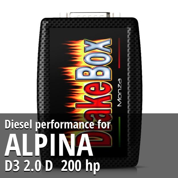 Diesel performance Alpina D3 2.0 D 200 hp