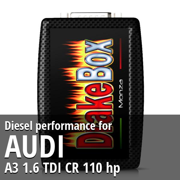 Diesel performance Audi A3 1.6 TDI CR 110 hp