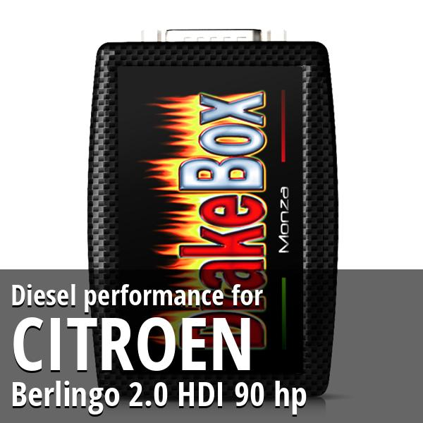 Diesel performance Citroen Berlingo 2.0 HDI 90 hp